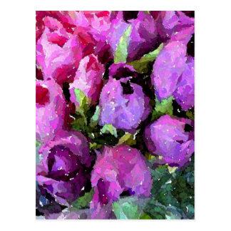 Tulpe-Gegähne Postkarte