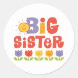 Tulpe-große Schwester Runder Sticker