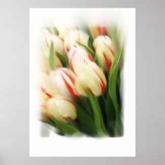 Tulpe Malerei auf Leinwand Posterdruck