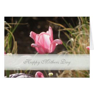 Tulpe-Mutter-Tageskarte Grußkarte