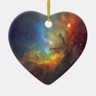 Tulpe-Nebelfleck SH2-101 die NASA Keramik Herz-Ornament