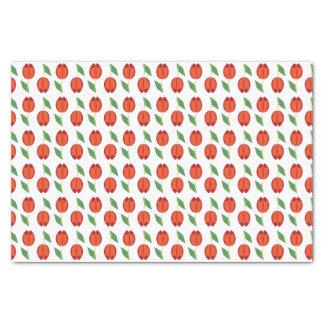Tulpe-rotes orange Frühlings-Muster Seidenpapier