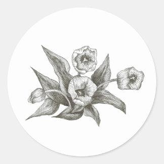 Tulpe Runder Aufkleber