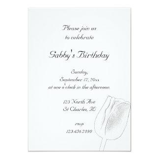 Tulpe-Skizze-Frühlings-Geburtstags-Party Einladung
