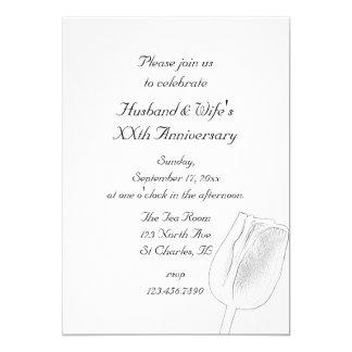 Tulpe-Skizze-Hochzeits-Jahrestags-Party Einladung