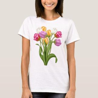 Tulpe-T-Shirt für Frauenfrühlings-Blumen T-Shirt