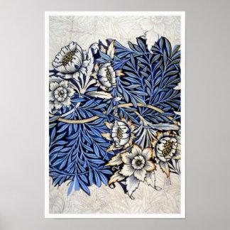 """""""Tulpe u. Weide"""" durch William Morris - Druck Poster"""