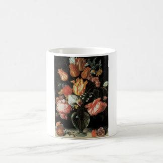 Tulpe-und Rosen-feine Kunst-mit BlumenTasse Kaffeetasse