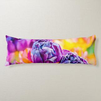 Tulpe-Verzaubern lila Seitenschläferkissen