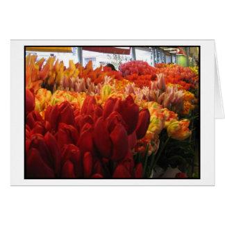 Tulpen am Pike-Platz-allgemeinen Markt, Seattle Karte