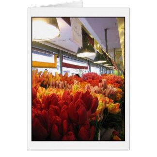 Tulpen am Pike-Platz-Markt, Seattle Karte