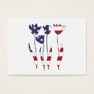 """Tulpen """"amerikanische Flagge """" Jumbo-Visitenkarten"""