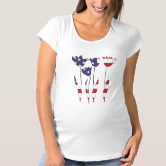 """Tulpen """"amerikanische Flagge """" Schwangerschafts T-Shirt"""