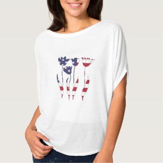 """Tulpen """"amerikanische Flagge """" T-Shirt"""