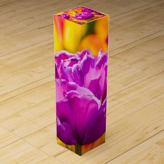 Tulpen, die Veilchen verzaubern Wein-Geschenkverpackung