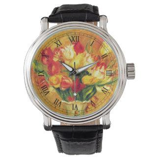 Tulpen durch Pierre Renoir, Vintage Uhr