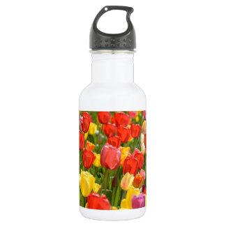 Tulpen im Garten Edelstahlflasche