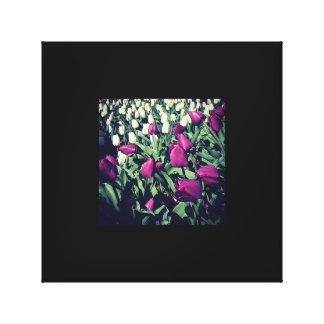 Tulpen im Garten Leinwanddruck