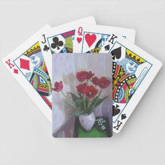 Tulpen im Vase Pokerkarten