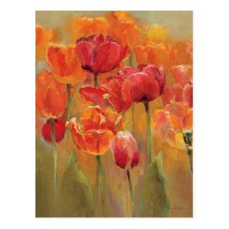 Tulpen in der Mitte Postkarte