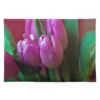 Tulpen Poesie in Rosa Tischset