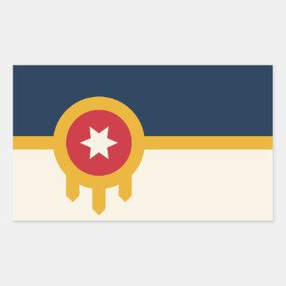 Tulsa-Flaggen-Aufkleber Rechteckiger Aufkleber