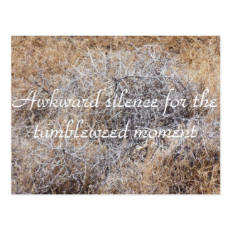 Tumbleweed-Moment-sarkastische Postkarte