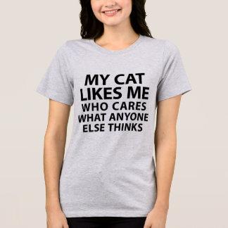 Tumblr T - Shirt meine Katze mag mich, der sich
