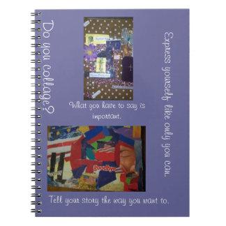 Tun Sie Collage Drücken Sie sich Notizbuch aus