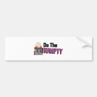 Tun Sie das Humpty Autoaufkleber