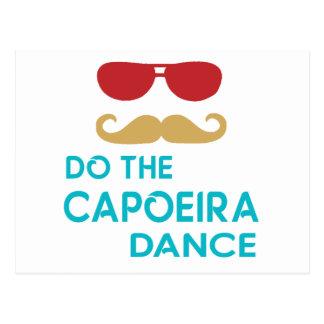 Tun Sie den Capoeira Tanz Postkarte
