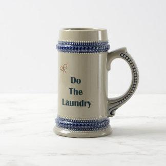 Tun Sie die Wäscherei-Erinnerungen Bierglas