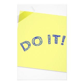Tun Sie es! Briefpapier