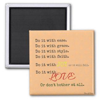 Tun Sie es mit Liebe-Magneten Quadratischer Magnet