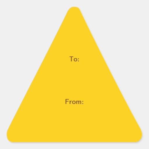 """TUN Sie ES SICH ~ 1,5"""" Dreieck-Aufkleber"""