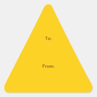 "TUN Sie ES SICH ~ 1,5"" Dreieck-Aufkleber Dreiecks-Aufkleber"
