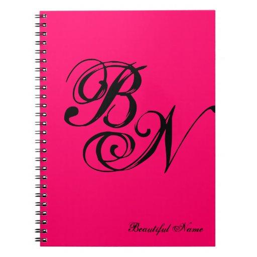 Tun Sie es sich Monogramm ~ Notizbuch/6.5x8.75
