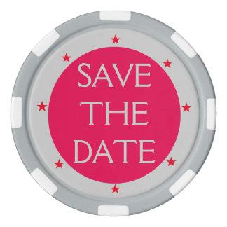 Tun Sie es sich ~ Save the Date Poker-Chip-Sterne Poker Chip Set