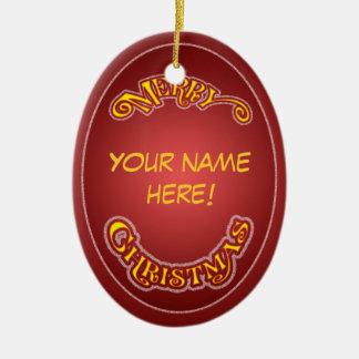 Tun Sie es sich Weihnachtsverzierung Ovales Keramik Ornament