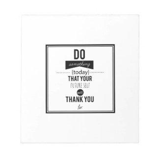 Tun Sie etwas dekorative Notizblock