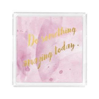 Tun Sie etwas fantastischer rosa Behälter, Acryl Tablett