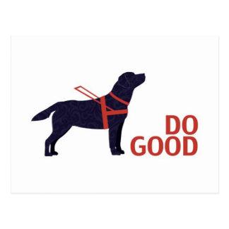 Tun Sie guten - Service-Hund - schwarzen Labrador Postkarte