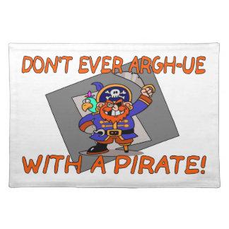Tun Sie nicht überhaupt Argh-ue mit einem Piraten Tischset