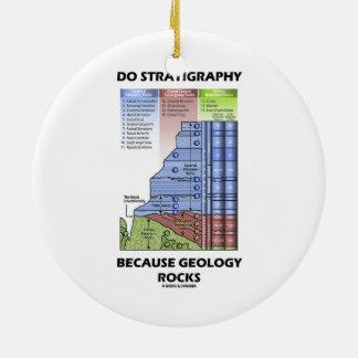 Tun Sie Stratigraphie, weil Geologie Grand Canyon Rundes Keramik Ornament