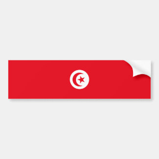 Tunesien-Flagge Autoaufkleber