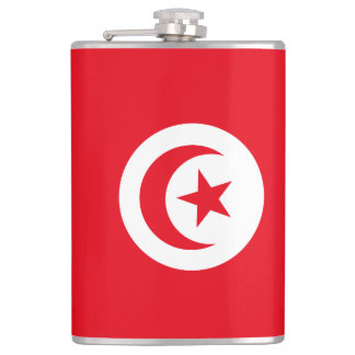 Tunesien-Flagge Flachmann