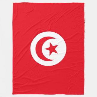 Tunesien-Flagge Fleecedecke