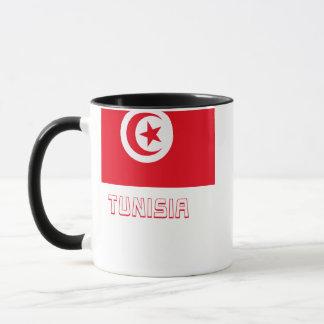 Tunesien-Flagge mit Namen Tasse