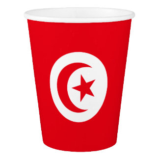 Tunesien-Flagge Pappbecher