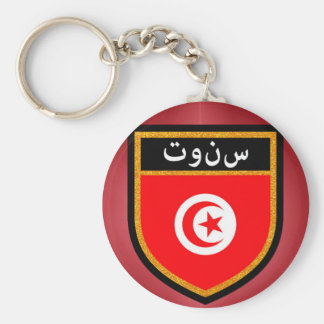 Tunesien-Flagge Schlüsselanhänger